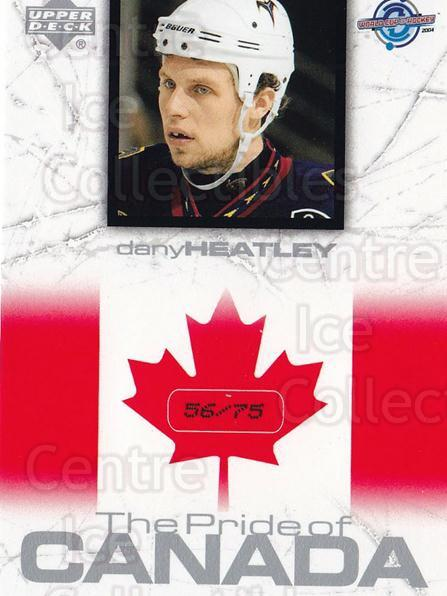 2004 UD Toronto Fall Expo Pride of Canada #15 Dany Heatley<br/>1 In Stock - $10.00 each - <a href=https://centericecollectibles.foxycart.com/cart?name=2004%20UD%20Toronto%20Fall%20Expo%20Pride%20of%20Canada%20%2315%20Dany%20Heatley...&quantity_max=1&price=$10.00&code=629988 class=foxycart> Buy it now! </a>