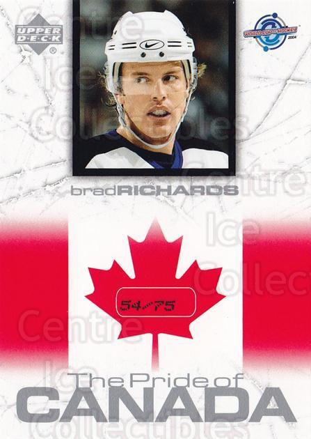 2004 UD Toronto Fall Expo Pride of Canada #22 Brad Richards<br/>1 In Stock - $10.00 each - <a href=https://centericecollectibles.foxycart.com/cart?name=2004%20UD%20Toronto%20Fall%20Expo%20Pride%20of%20Canada%20%2322%20Brad%20Richards...&quantity_max=1&price=$10.00&code=629995 class=foxycart> Buy it now! </a>