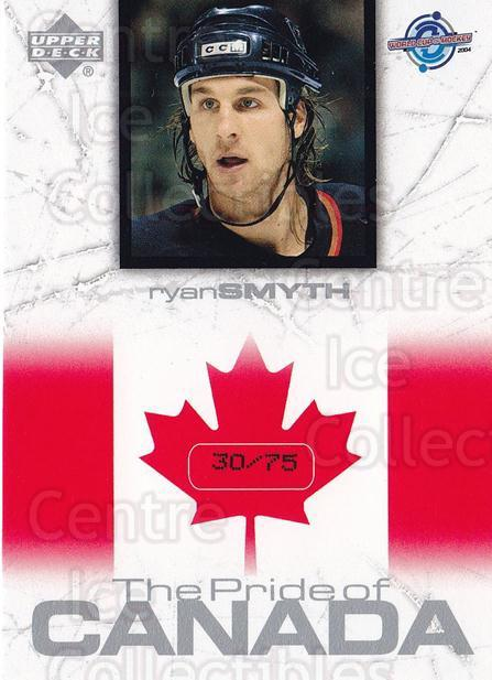 2004 UD Toronto Fall Expo Pride of Canada #25 Ryan Smyth<br/>1 In Stock - $10.00 each - <a href=https://centericecollectibles.foxycart.com/cart?name=2004%20UD%20Toronto%20Fall%20Expo%20Pride%20of%20Canada%20%2325%20Ryan%20Smyth...&quantity_max=1&price=$10.00&code=629998 class=foxycart> Buy it now! </a>