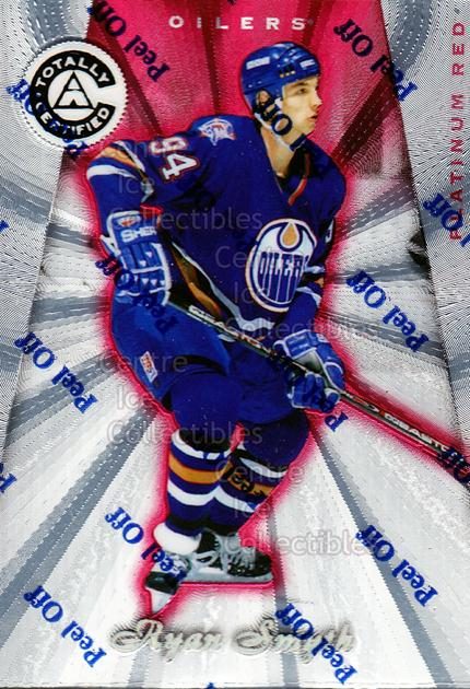 1997-98 Pinnacle Totally Certified Platinum Red #79 Ryan Smyth<br/>6 In Stock - $2.00 each - <a href=https://centericecollectibles.foxycart.com/cart?name=1997-98%20Pinnacle%20Totally%20Certified%20Platinum%20Red%20%2379%20Ryan%20Smyth...&quantity_max=6&price=$2.00&code=63083 class=foxycart> Buy it now! </a>