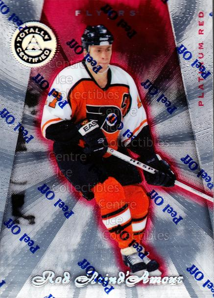 1997-98 Pinnacle Totally Certified Platinum Red #93 Rod Brind'Amour<br/>6 In Stock - $2.00 each - <a href=https://centericecollectibles.foxycart.com/cart?name=1997-98%20Pinnacle%20Totally%20Certified%20Platinum%20Red%20%2393%20Rod%20Brind'Amour...&quantity_max=6&price=$2.00&code=63097 class=foxycart> Buy it now! </a>