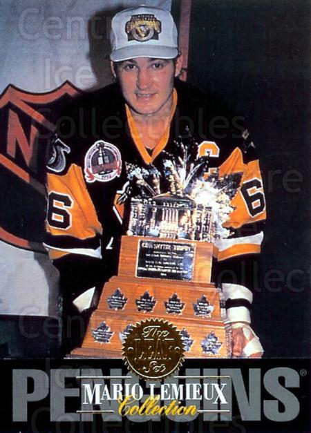 1993-94 Leaf Mario Lemieux #6 Mario Lemieux, Conn Smythe Trophy<br/>5 In Stock - $2.00 each - <a href=https://centericecollectibles.foxycart.com/cart?name=1993-94%20Leaf%20Mario%20Lemieux%20%236%20Mario%20Lemieux,%20...&price=$2.00&code=6311 class=foxycart> Buy it now! </a>