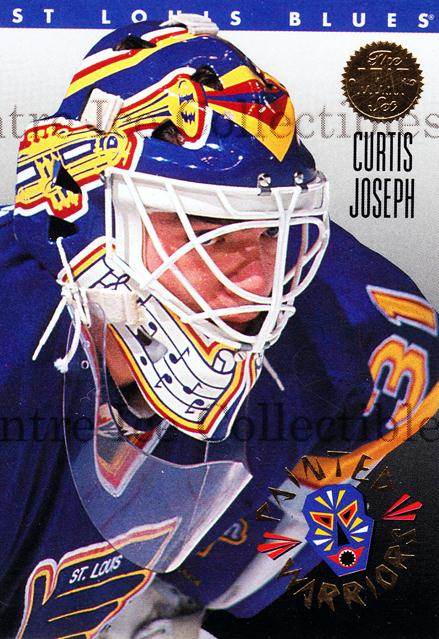 1993-94 Leaf Painted Warriors #2 Curtis Joseph<br/>6 In Stock - $2.00 each - <a href=https://centericecollectibles.foxycart.com/cart?name=1993-94%20Leaf%20Painted%20Warriors%20%232%20Curtis%20Joseph...&quantity_max=6&price=$2.00&code=6316 class=foxycart> Buy it now! </a>