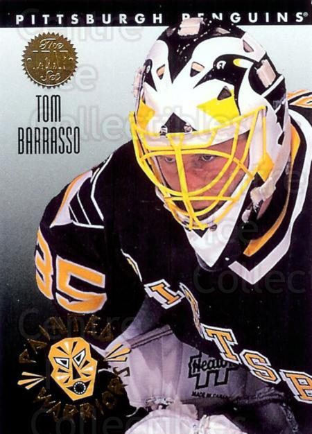 1993-94 Leaf Painted Warriors #9 Tom Barrasso<br/>13 In Stock - $2.00 each - <a href=https://centericecollectibles.foxycart.com/cart?name=1993-94%20Leaf%20Painted%20Warriors%20%239%20Tom%20Barrasso...&price=$2.00&code=6320 class=foxycart> Buy it now! </a>