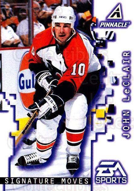 1997-98 Pinnacle #196 John LeClair<br/>5 In Stock - $1.00 each - <a href=https://centericecollectibles.foxycart.com/cart?name=1997-98%20Pinnacle%20%23196%20John%20LeClair...&quantity_max=5&price=$1.00&code=63210 class=foxycart> Buy it now! </a>