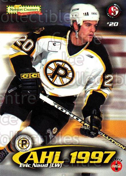 1997-98 Providence Bruins #11 Eric Naud<br/>10 In Stock - $3.00 each - <a href=https://centericecollectibles.foxycart.com/cart?name=1997-98%20Providence%20Bruins%20%2311%20Eric%20Naud...&price=$3.00&code=63247 class=foxycart> Buy it now! </a>