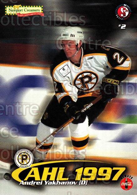 1997-98 Providence Bruins #22 Andrei Yakhanov<br/>11 In Stock - $3.00 each - <a href=https://centericecollectibles.foxycart.com/cart?name=1997-98%20Providence%20Bruins%20%2322%20Andrei%20Yakhanov...&price=$3.00&code=63257 class=foxycart> Buy it now! </a>