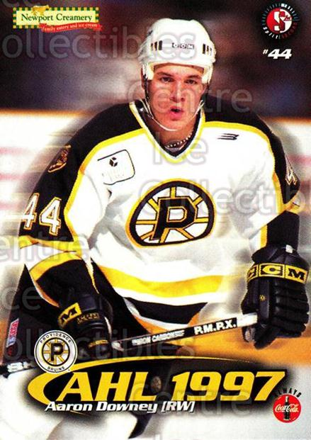 1997-98 Providence Bruins #5 Aaron Downey<br/>6 In Stock - $3.00 each - <a href=https://centericecollectibles.foxycart.com/cart?name=1997-98%20Providence%20Bruins%20%235%20Aaron%20Downey...&price=$3.00&code=63260 class=foxycart> Buy it now! </a>