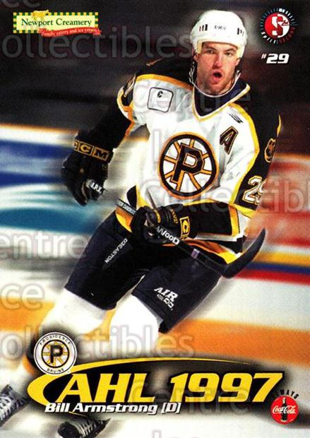 1997-98 Providence Bruins #3 Bill Armstrong<br/>10 In Stock - $3.00 each - <a href=https://centericecollectibles.foxycart.com/cart?name=1997-98%20Providence%20Bruins%20%233%20Bill%20Armstrong...&price=$3.00&code=63262 class=foxycart> Buy it now! </a>