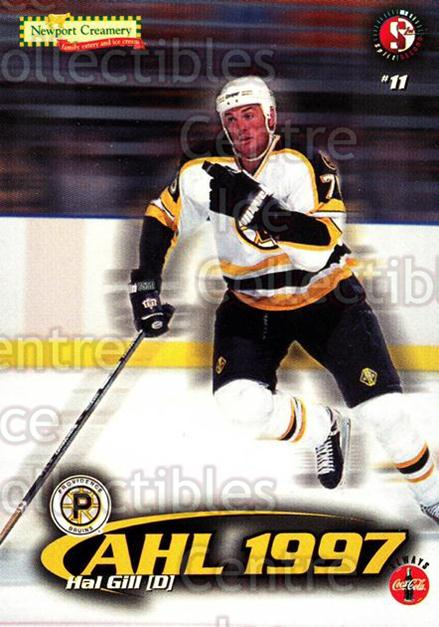 1997-98 Providence Bruins #6 Hal Gill<br/>10 In Stock - $3.00 each - <a href=https://centericecollectibles.foxycart.com/cart?name=1997-98%20Providence%20Bruins%20%236%20Hal%20Gill...&price=$3.00&code=63264 class=foxycart> Buy it now! </a>