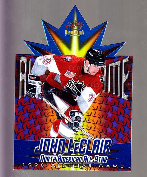 1997-98 Revolution 1998 AS Game Die-Cuts #15 John LeClair<br/>1 In Stock - $3.00 each - <a href=https://centericecollectibles.foxycart.com/cart?name=1997-98%20Revolution%201998%20AS%20Game%20Die-Cuts%20%2315%20John%20LeClair...&quantity_max=1&price=$3.00&code=63267 class=foxycart> Buy it now! </a>