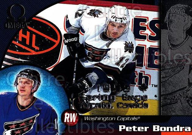 1998-99 Omega Spring Expo #245 Peter Bondra<br/>1 In Stock - $5.00 each - <a href=https://centericecollectibles.foxycart.com/cart?name=1998-99%20Omega%20Spring%20Expo%20%23245%20Peter%20Bondra...&quantity_max=1&price=$5.00&code=633532 class=foxycart> Buy it now! </a>