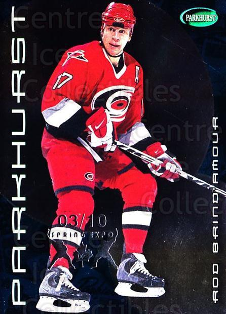 2001-02 Parkhurst Spring Expo #104 Rod Brind'Amour<br/>1 In Stock - $10.00 each - <a href=https://centericecollectibles.foxycart.com/cart?name=2001-02%20Parkhurst%20Spring%20Expo%20%23104%20Rod%20Brind'Amour...&quantity_max=1&price=$10.00&code=633859 class=foxycart> Buy it now! </a>