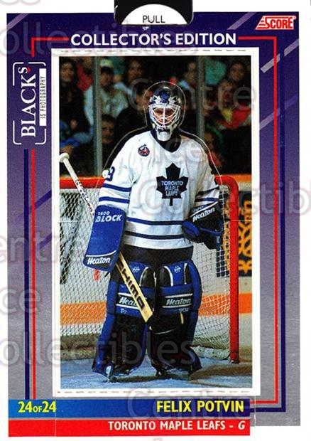 1993-94 Toronto Maple Leafs Score Blacks #24 Felix Potvin<br/>5 In Stock - $5.00 each - <a href=https://centericecollectibles.foxycart.com/cart?name=1993-94%20Toronto%20Maple%20Leafs%20Score%20Blacks%20%2324%20Felix%20Potvin...&quantity_max=5&price=$5.00&code=6359 class=foxycart> Buy it now! </a>