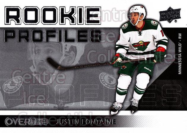 2013-14 Upper Deck Overtime Rookie Profiles #51 Justin Fontaine<br/>1 In Stock - $2.00 each - <a href=https://centericecollectibles.foxycart.com/cart?name=2013-14%20Upper%20Deck%20Overtime%20Rookie%20Profiles%20%2351%20Justin%20Fontaine...&quantity_max=1&price=$2.00&code=637125 class=foxycart> Buy it now! </a>