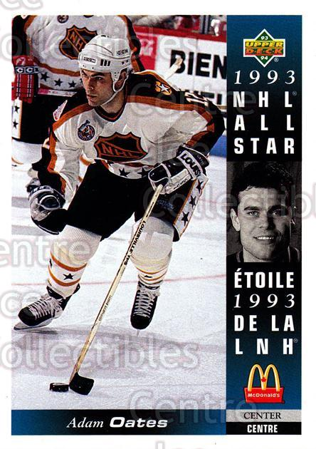 1993-94 McDonalds Upper Deck #21 Adam Oates<br/>10 In Stock - $1.00 each - <a href=https://centericecollectibles.foxycart.com/cart?name=1993-94%20McDonalds%20Upper%20Deck%20%2321%20Adam%20Oates...&quantity_max=10&price=$1.00&code=6375 class=foxycart> Buy it now! </a>