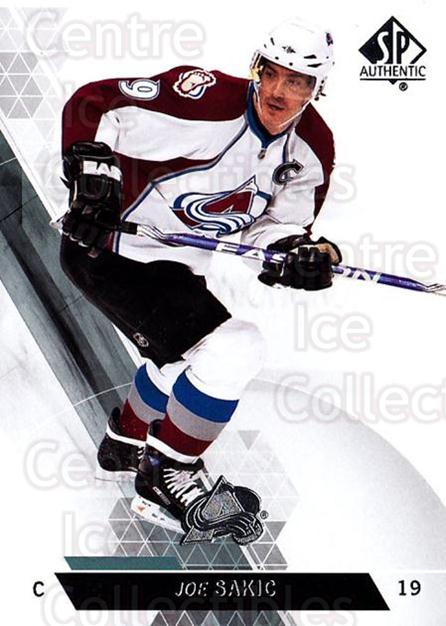2013-14 Sp Authentic #23 Joe Sakic<br/>8 In Stock - $2.00 each - <a href=https://centericecollectibles.foxycart.com/cart?name=2013-14%20Sp%20Authentic%20%2323%20Joe%20Sakic...&quantity_max=8&price=$2.00&code=639300 class=foxycart> Buy it now! </a>