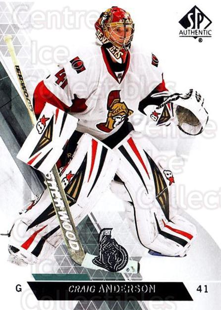 2013-14 Sp Authentic #71 Craig Anderson<br/>8 In Stock - $1.00 each - <a href=https://centericecollectibles.foxycart.com/cart?name=2013-14%20Sp%20Authentic%20%2371%20Craig%20Anderson...&quantity_max=8&price=$1.00&code=639348 class=foxycart> Buy it now! </a>