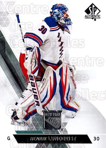 2013-14 Sp Authentic #83 Henrik Lundqvist<br/>9 In Stock - $2.00 each - <a href=https://centericecollectibles.foxycart.com/cart?name=2013-14%20Sp%20Authentic%20%2383%20Henrik%20Lundqvis...&quantity_max=9&price=$2.00&code=639360 class=foxycart> Buy it now! </a>