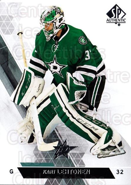 2013-14 Sp Authentic #102 Kari Lehtonen<br/>7 In Stock - $1.00 each - <a href=https://centericecollectibles.foxycart.com/cart?name=2013-14%20Sp%20Authentic%20%23102%20Kari%20Lehtonen...&quantity_max=7&price=$1.00&code=639379 class=foxycart> Buy it now! </a>