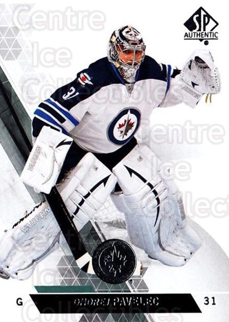 2013-14 Sp Authentic #122 Ondrej Pavelec<br/>8 In Stock - $1.00 each - <a href=https://centericecollectibles.foxycart.com/cart?name=2013-14%20Sp%20Authentic%20%23122%20Ondrej%20Pavelec...&quantity_max=8&price=$1.00&code=639399 class=foxycart> Buy it now! </a>