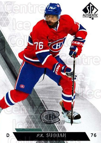 2013-14 Sp Authentic #123 PK Subban<br/>8 In Stock - $1.00 each - <a href=https://centericecollectibles.foxycart.com/cart?name=2013-14%20Sp%20Authentic%20%23123%20PK%20Subban...&quantity_max=8&price=$1.00&code=639400 class=foxycart> Buy it now! </a>