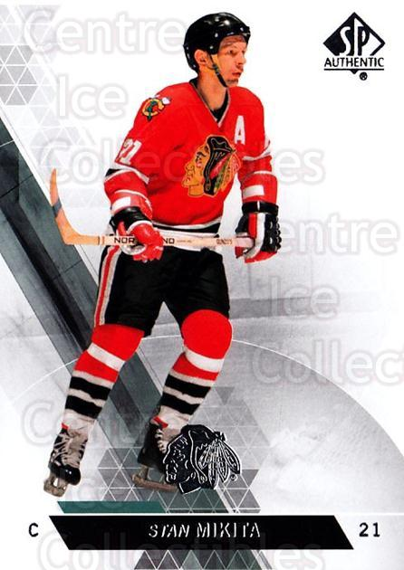 2013-14 Sp Authentic #140 Stan Mikita<br/>7 In Stock - $2.00 each - <a href=https://centericecollectibles.foxycart.com/cart?name=2013-14%20Sp%20Authentic%20%23140%20Stan%20Mikita...&quantity_max=7&price=$2.00&code=639417 class=foxycart> Buy it now! </a>
