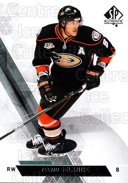 2013-14 Sp Authentic #144 Teemu Selanne<br/>6 In Stock - $2.00 each - <a href=https://centericecollectibles.foxycart.com/cart?name=2013-14%20Sp%20Authentic%20%23144%20Teemu%20Selanne...&quantity_max=6&price=$2.00&code=639421 class=foxycart> Buy it now! </a>