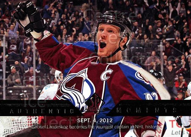 2013-14 Sp Authentic #162 Gabriel Landeskog<br/>4 In Stock - $2.00 each - <a href=https://centericecollectibles.foxycart.com/cart?name=2013-14%20Sp%20Authentic%20%23162%20Gabriel%20Landesk...&quantity_max=4&price=$2.00&code=639439 class=foxycart> Buy it now! </a>