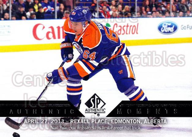 2013-14 Sp Authentic #166 Nail Yakupov<br/>4 In Stock - $2.00 each - <a href=https://centericecollectibles.foxycart.com/cart?name=2013-14%20Sp%20Authentic%20%23166%20Nail%20Yakupov...&quantity_max=4&price=$2.00&code=639443 class=foxycart> Buy it now! </a>