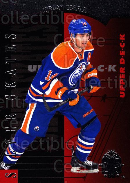 2013-14 SP Authentic SP Retro Silver Skates #4 Jordan Eberle<br/>4 In Stock - $2.00 each - <a href=https://centericecollectibles.foxycart.com/cart?name=2013-14%20SP%20Authentic%20SP%20Retro%20Silver%20Skates%20%234%20Jordan%20Eberle...&quantity_max=4&price=$2.00&code=639674 class=foxycart> Buy it now! </a>