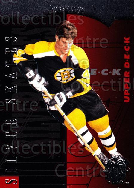 2013-14 SP Authentic SP Retro Silver Skates #9 Bobby Orr<br/>1 In Stock - $5.00 each - <a href=https://centericecollectibles.foxycart.com/cart?name=2013-14%20SP%20Authentic%20SP%20Retro%20Silver%20Skates%20%239%20Bobby%20Orr...&price=$5.00&code=639679 class=foxycart> Buy it now! </a>