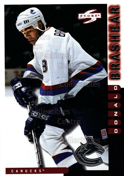 1997-98 Score Vancouver Canucks #17 Donald Brashear<br/>12 In Stock - $2.00 each - <a href=https://centericecollectibles.foxycart.com/cart?name=1997-98%20Score%20Vancouver%20Canucks%20%2317%20Donald%20Brashear...&quantity_max=12&price=$2.00&code=63967 class=foxycart> Buy it now! </a>