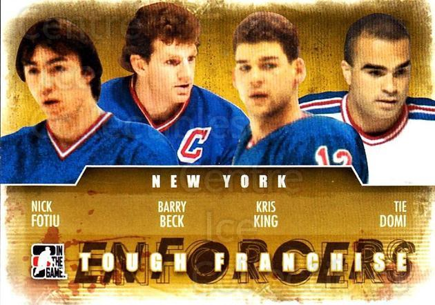 2011-12 ITG Enforcers #4 Nick Fotiu, Barry Beck, Kris King, Tie Domi<br/>2 In Stock - $2.00 each - <a href=https://centericecollectibles.foxycart.com/cart?name=2011-12%20ITG%20Enforcers%20%234%20Nick%20Fotiu,%20Bar...&quantity_max=2&price=$2.00&code=639885 class=foxycart> Buy it now! </a>
