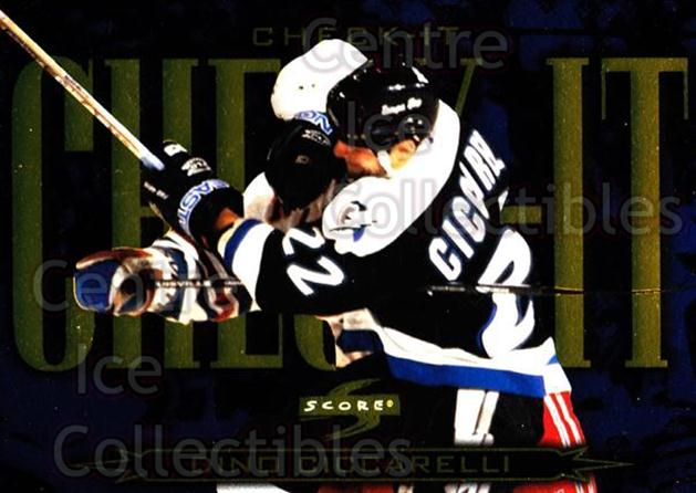 1997-98 Score Check It #15 Dino Ciccarelli<br/>6 In Stock - $3.00 each - <a href=https://centericecollectibles.foxycart.com/cart?name=1997-98%20Score%20Check%20It%20%2315%20Dino%20Ciccarelli...&quantity_max=6&price=$3.00&code=63988 class=foxycart> Buy it now! </a>