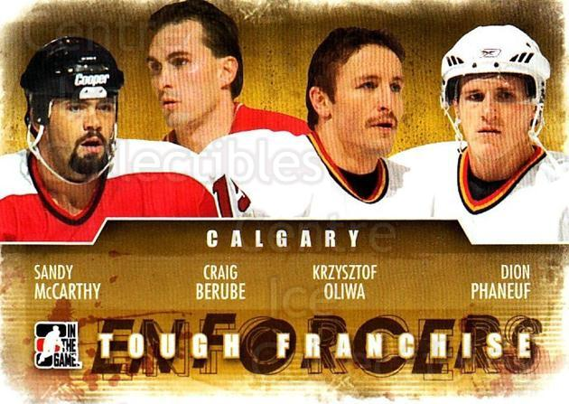 2011-12 ITG Enforcers #16 Sandy McCarthy, Craig Berube, Krzysztof Oliwa, Dion Phaneuf<br/>2 In Stock - $2.00 each - <a href=https://centericecollectibles.foxycart.com/cart?name=2011-12%20ITG%20Enforcers%20%2316%20Sandy%20McCarthy,...&price=$2.00&code=639897 class=foxycart> Buy it now! </a>