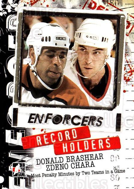 2011-12 ITG Enforcers #22 Donald Brashear, Zdeno Chara<br/>5 In Stock - $2.00 each - <a href=https://centericecollectibles.foxycart.com/cart?name=2011-12%20ITG%20Enforcers%20%2322%20Donald%20Brashear...&quantity_max=5&price=$2.00&code=639903 class=foxycart> Buy it now! </a>