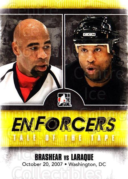 2011-12 ITG Enforcers #29 Donald Brashear, Georges Laraque<br/>5 In Stock - $2.00 each - <a href=https://centericecollectibles.foxycart.com/cart?name=2011-12%20ITG%20Enforcers%20%2329%20Donald%20Brashear...&quantity_max=5&price=$2.00&code=639910 class=foxycart> Buy it now! </a>