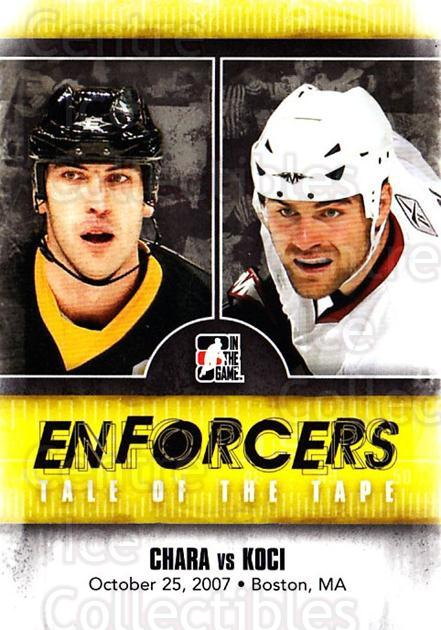 2011-12 ITG Enforcers #30 Zdeno Chara, David Koci<br/>7 In Stock - $2.00 each - <a href=https://centericecollectibles.foxycart.com/cart?name=2011-12%20ITG%20Enforcers%20%2330%20Zdeno%20Chara,%20Da...&quantity_max=7&price=$2.00&code=639911 class=foxycart> Buy it now! </a>