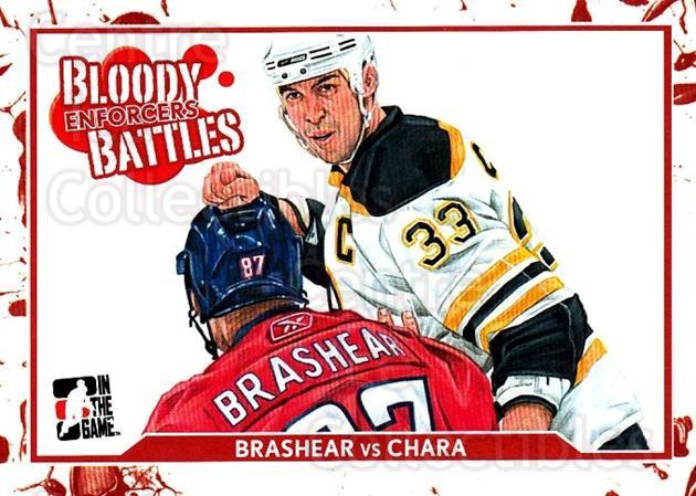 2011-12 ITG Enforcers #59 Donald Brashear, Zdeno Chara<br/>1 In Stock - $2.00 each - <a href=https://centericecollectibles.foxycart.com/cart?name=2011-12%20ITG%20Enforcers%20%2359%20Donald%20Brashear...&quantity_max=1&price=$2.00&code=639940 class=foxycart> Buy it now! </a>