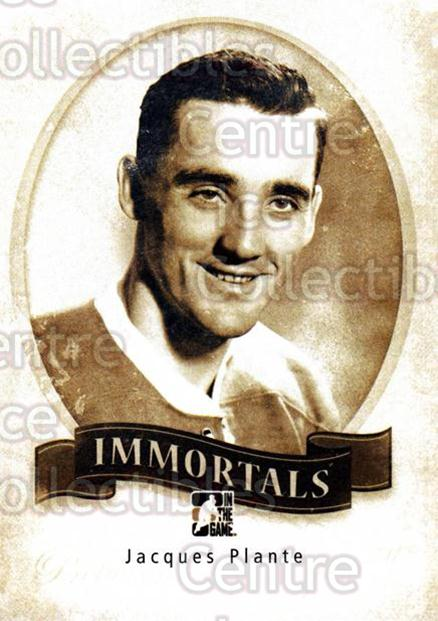 2013-14 Between the Pipes Immortals #36 Jacques Plante<br/>10 In Stock - $3.00 each - <a href=https://centericecollectibles.foxycart.com/cart?name=2013-14%20Between%20the%20Pipes%20Immortals%20%2336%20Jacques%20Plante...&quantity_max=10&price=$3.00&code=640007 class=foxycart> Buy it now! </a>