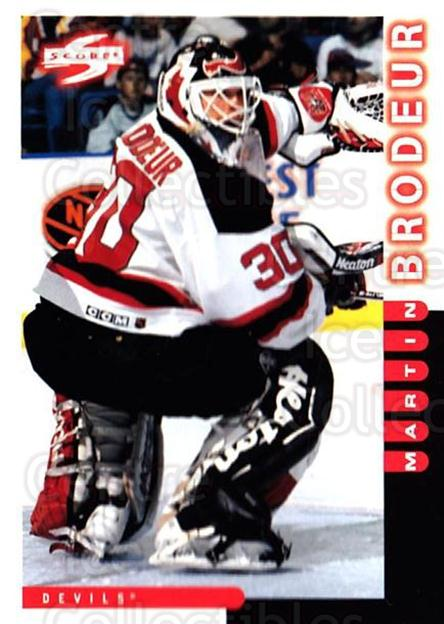1997-98 Score #30 Martin Brodeur<br/>1 In Stock - $2.00 each - <a href=https://centericecollectibles.foxycart.com/cart?name=1997-98%20Score%20%2330%20Martin%20Brodeur...&price=$2.00&code=64011 class=foxycart> Buy it now! </a>