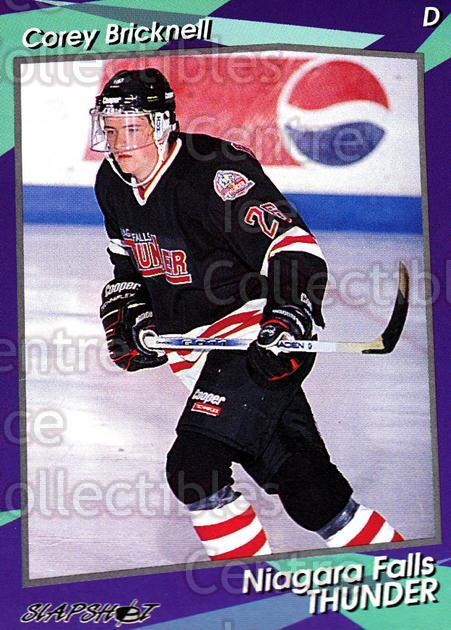 1993-94 Niagara Falls Thunder #20 Corey Bricknell<br/>2 In Stock - $3.00 each - <a href=https://centericecollectibles.foxycart.com/cart?name=1993-94%20Niagara%20Falls%20Thunder%20%2320%20Corey%20Bricknell...&quantity_max=2&price=$3.00&code=6405 class=foxycart> Buy it now! </a>
