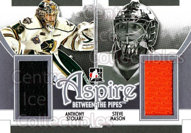 2013-14 Between the Pipes Aspire Jersey Silver #4 Anthony Stolarz, Steve Mason<br/>1 In Stock - $5.00 each - <a href=https://centericecollectibles.foxycart.com/cart?name=2013-14%20Between%20the%20Pipes%20Aspire%20Jersey%20Silver%20%234%20Anthony%20Stolarz...&quantity_max=1&price=$5.00&code=640698 class=foxycart> Buy it now! </a>