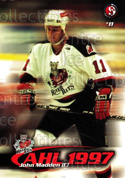 1997-98 Albany River Rats #9 John Madden<br/>1 In Stock - $3.00 each - <a href=https://centericecollectibles.foxycart.com/cart?name=1997-98%20Albany%20River%20Rats%20%239%20John%20Madden...&quantity_max=1&price=$3.00&code=640781 class=foxycart> Buy it now! </a>