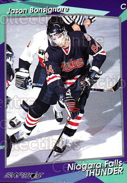 1993-94 Niagara Falls Thunder #23 Jason Bonsignore<br/>1 In Stock - $3.00 each - <a href=https://centericecollectibles.foxycart.com/cart?name=1993-94%20Niagara%20Falls%20Thunder%20%2323%20Jason%20Bonsignor...&quantity_max=1&price=$3.00&code=6408 class=foxycart> Buy it now! </a>