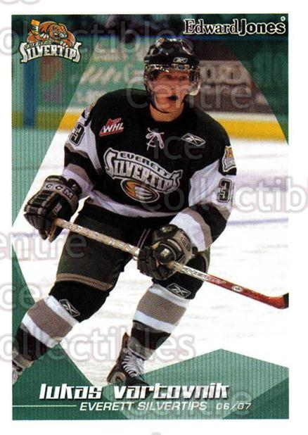 2006-07 Everett Silvertips #22 Lukas Vartovnik<br/>2 In Stock - $3.00 each - <a href=https://centericecollectibles.foxycart.com/cart?name=2006-07%20Everett%20Silvertips%20%2322%20Lukas%20Vartovnik...&price=$3.00&code=641008 class=foxycart> Buy it now! </a>