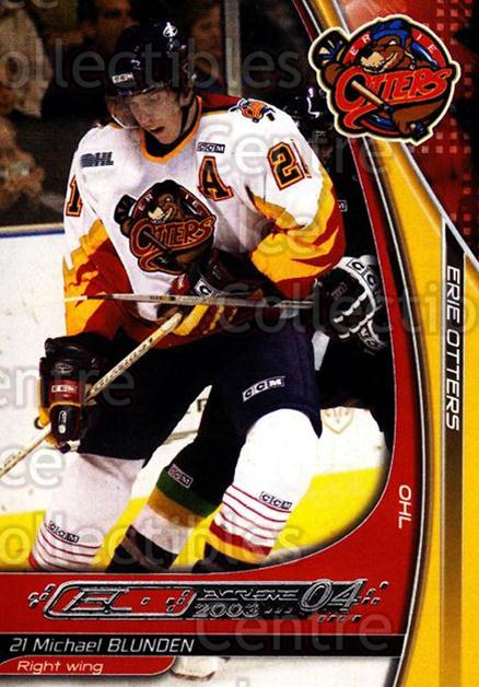 2003-04 Erie Otters #2 Michael Blunden<br/>1 In Stock - $3.00 each - <a href=https://centericecollectibles.foxycart.com/cart?name=2003-04%20Erie%20Otters%20%232%20Michael%20Blunden...&price=$3.00&code=641024 class=foxycart> Buy it now! </a>