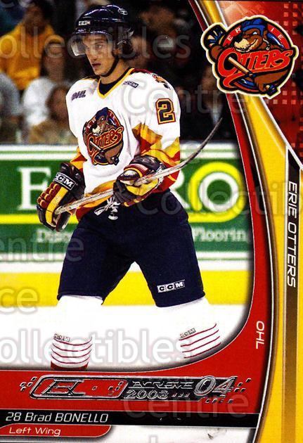2003-04 Erie Otters #3 Brad Bonello<br/>2 In Stock - $3.00 each - <a href=https://centericecollectibles.foxycart.com/cart?name=2003-04%20Erie%20Otters%20%233%20Brad%20Bonello...&price=$3.00&code=641025 class=foxycart> Buy it now! </a>