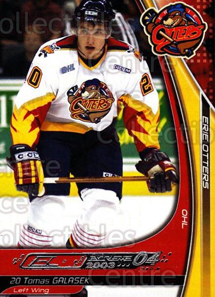 2003-04 Erie Otters #7 Tomas Galasek<br/>1 In Stock - $3.00 each - <a href=https://centericecollectibles.foxycart.com/cart?name=2003-04%20Erie%20Otters%20%237%20Tomas%20Galasek...&price=$3.00&code=641027 class=foxycart> Buy it now! </a>